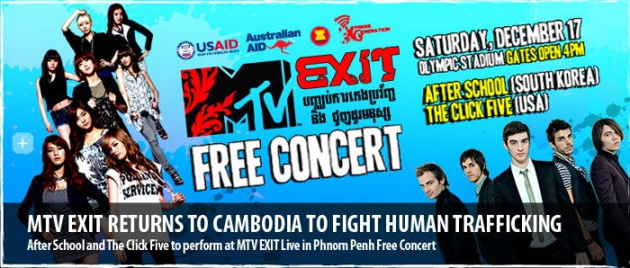 The Click Five headline the Olympic Stadium in Phnom Penh for MTV Exit
