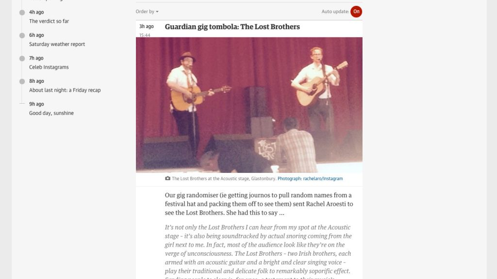 Guardian gig tombola: The Lost Brothers