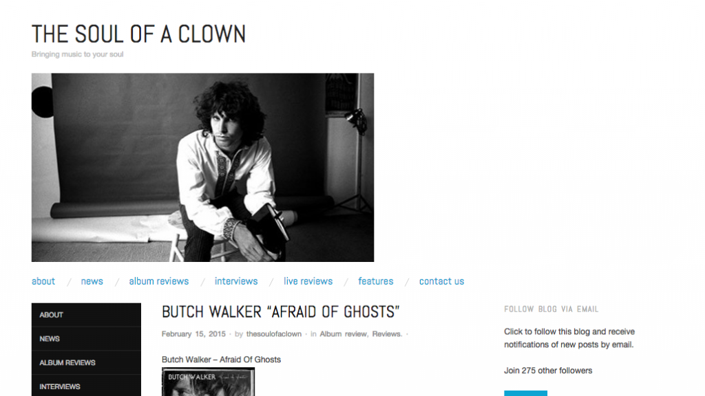 "Butch Walker ""Afraid Of Ghosts""   The Soul Of A Clown"