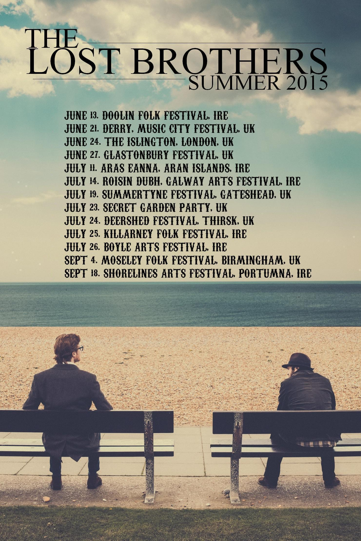The Lost Brothers Summer 2015 Tour Dates
