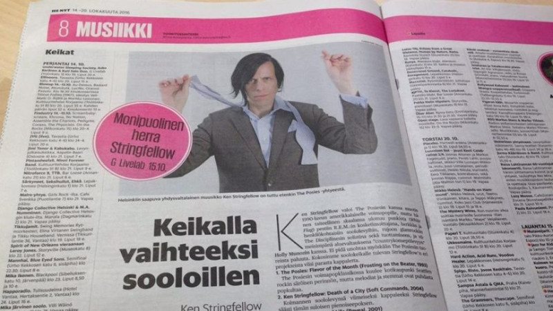 Ken Stringfellow in Helsinki