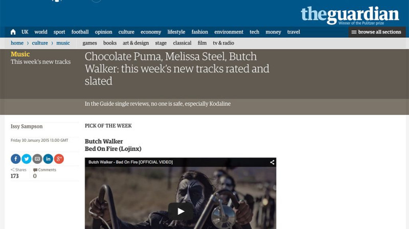 Butch Walker in The Guardian Picks Of The Week