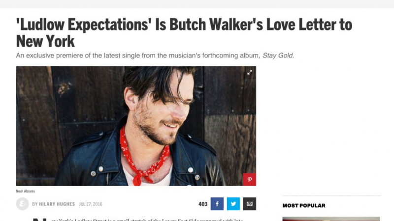 Esquire premieres Butch Walker's Ludlow Expectations