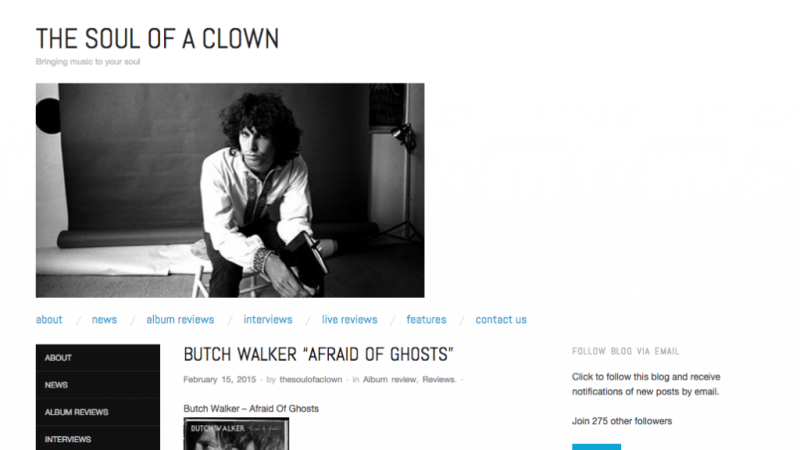 Review: Butch Walker – Afraid Of Ghosts (Soul Of A Clown)