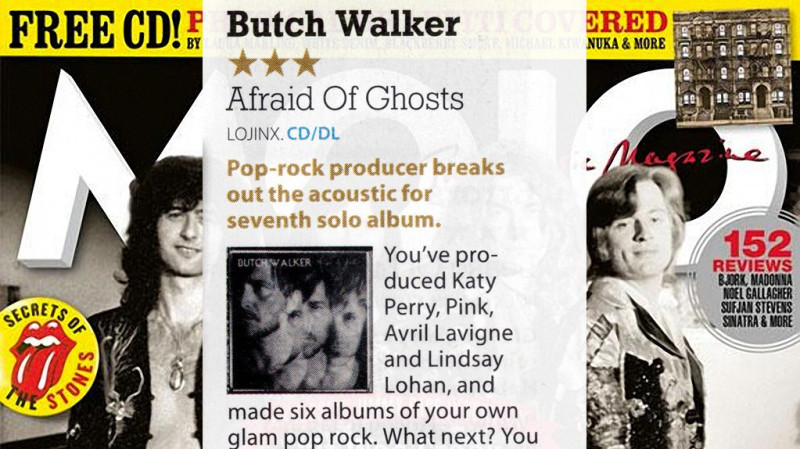Review: Butch Walker Afraid Of Ghosts in Mojo Magazine