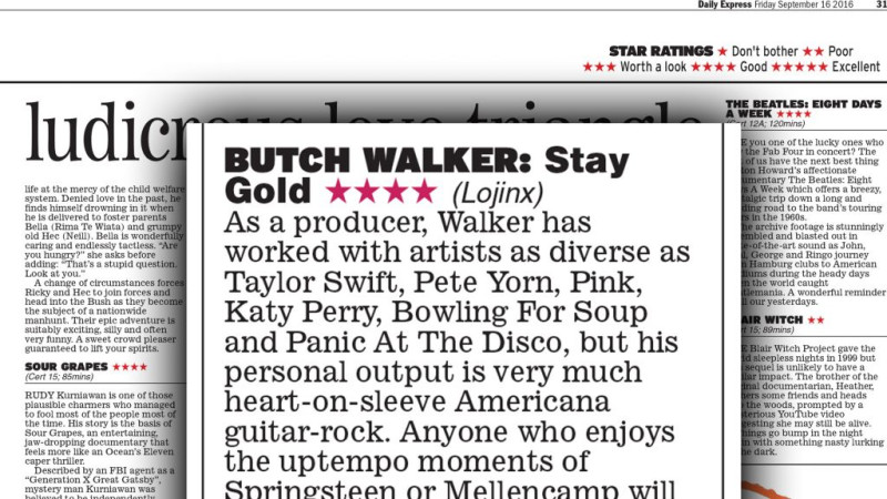 Butch Walker Daily Express Review