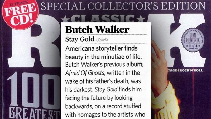 Butch Walker reviewed in Classic Rock Magazine