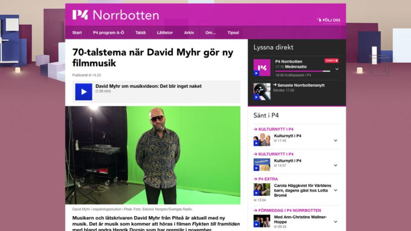 David Myhr on Sveriges Radio P4