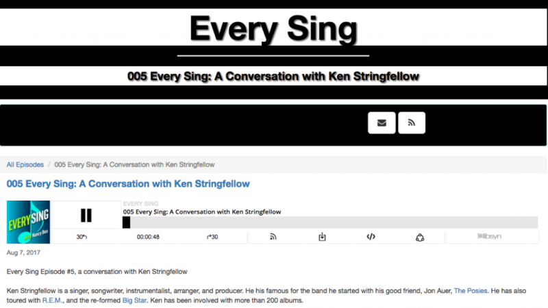 Ken Stringfellow on the Every Sing Podcast