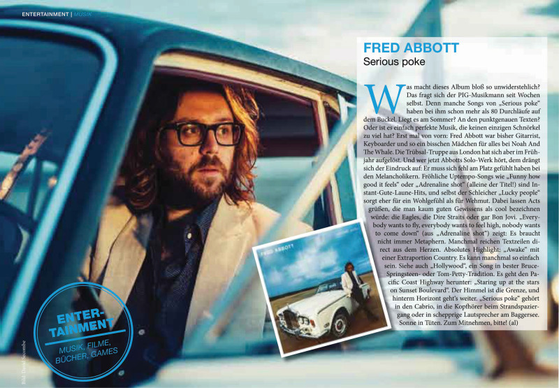 Fred Abbott in Stuttgart Magazine