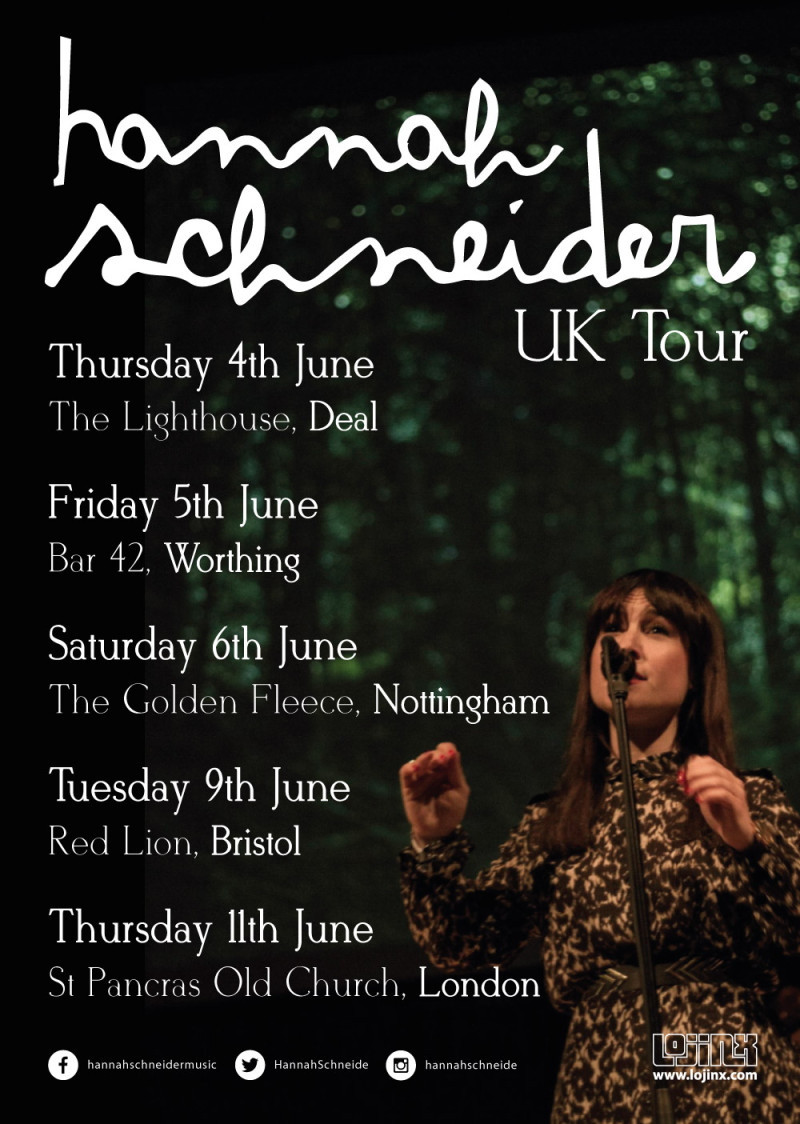 Hannah Schneider June UK Tour Dates