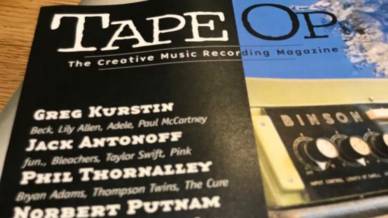 Phil Thornalley in TapeOp Magazine