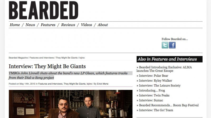 Bearded Magazine interview They Might Be Giants