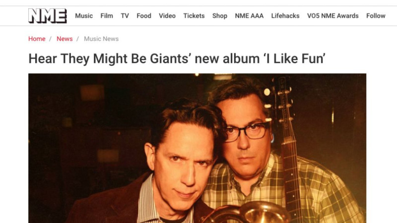 NME exclusive streaming preview of the new They Might Be Giants album