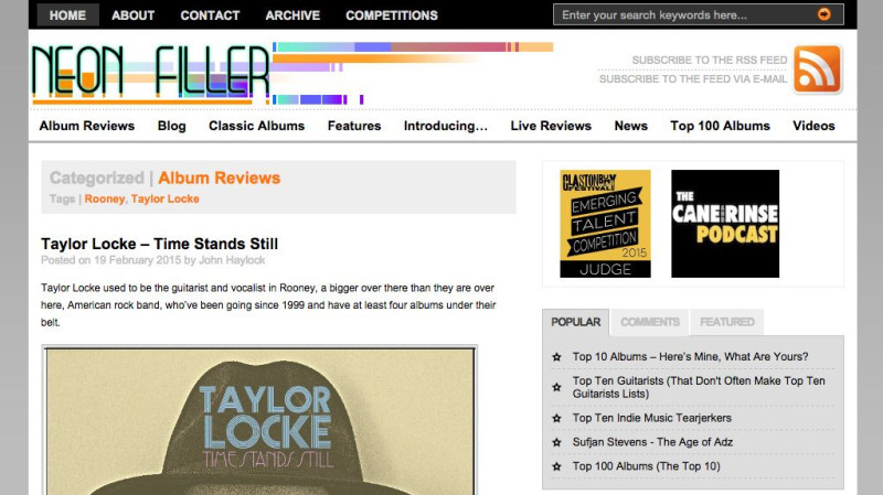 Review: Taylor Locke – Time Stands Still in Neon Filler