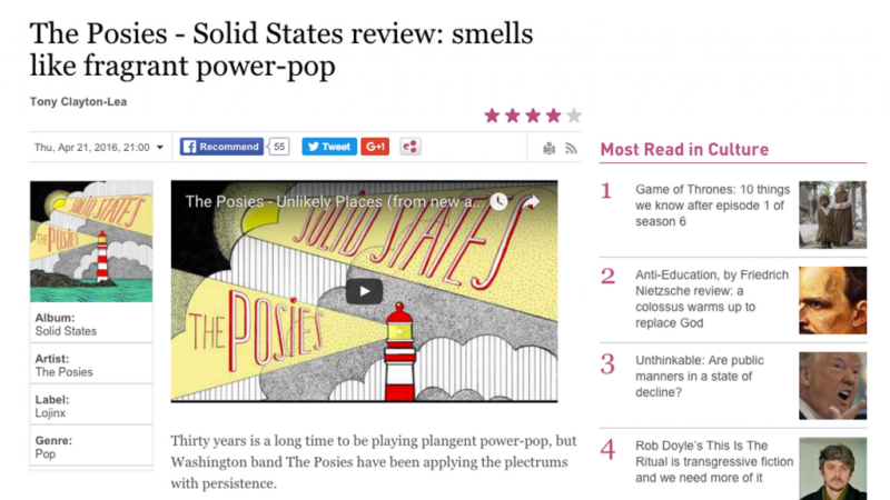 The Posies Irish Times Review