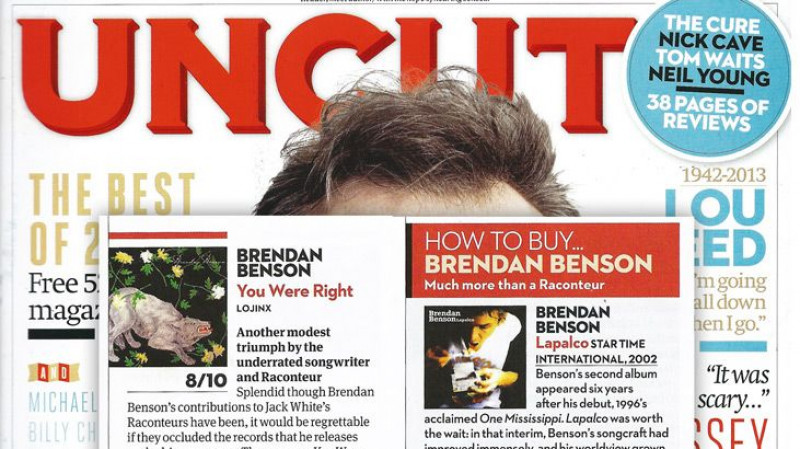 Brendan Benson featured in Uncut Magazine