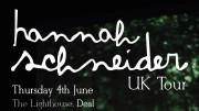 Hannah Schneider UK Tour